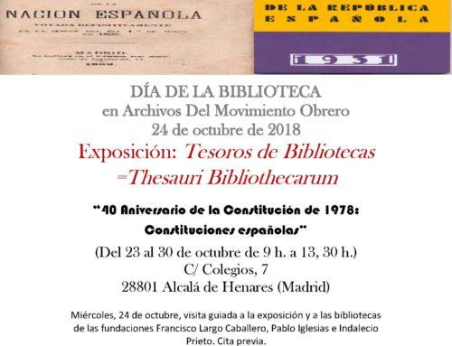 Exposición Constituciones Históricas Españolas (Conmemoración del Día Internacional de la Bibliotecas)