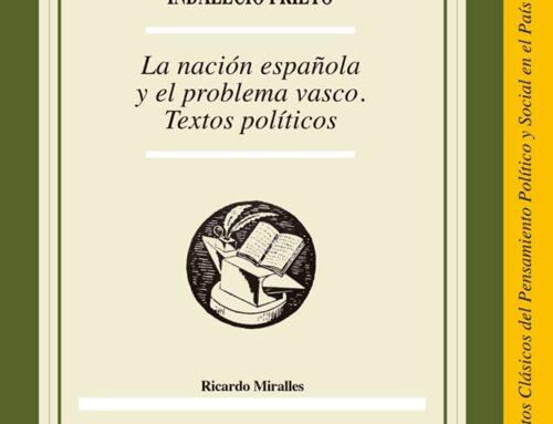 Presentación en el Parlamento Vasco del libro «Indalecio Prieto. La nación española y el problema vasco. Textos políticos»